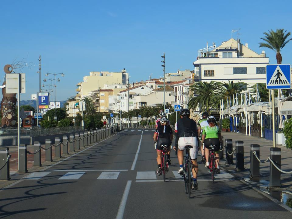 Rolling out of town along the sea front.